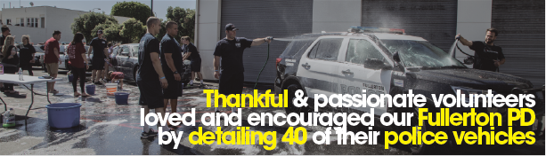 Volunteers say thank you by detailing 40 Police Vehicles